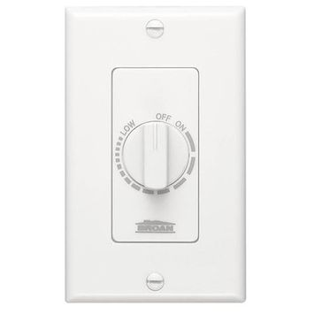 Broan P57W Electronic Variable Speed Control in White