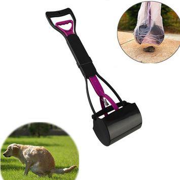 Foldable Puppy Dog Pooper Scooper Pet Long Handle Waste Clean Easy Pickup Poop Picker Tool