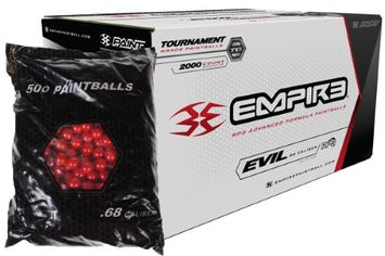 Empire Paintball Empire ULTRA EVIL 2000 Paintballs - Red Metalic Shell - ULTRA EVIL YELLOW FILL