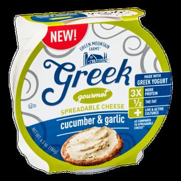Green Mountain Farms Greek Gourmet Spreadable Cheese Cucumber & Garlic