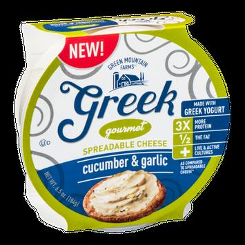 Green Mountain Farms Greek Gourmet Spreadable Cheese Garlics & Herb