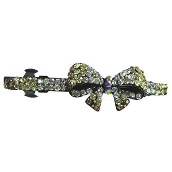 Energizer Amber Bow Flower French Barrette Hair Clip