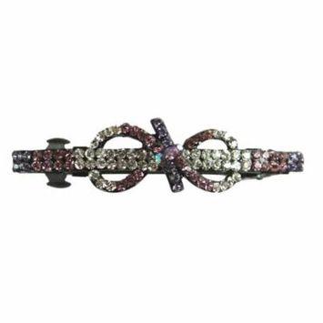 Light Purple Bow French Barrette Hair Clip