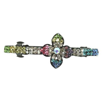 Color Fashion Flower French Barrette Hair Clip