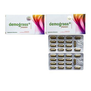 Demograss PREMIER 2 PACK Weight Loss Detox Supplement All Natural Formula Perdida de Peso Pastillas de Dieta Natural - 60 Day Supply