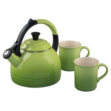 Le Creuset Peruh Kettle and Mug set, palm