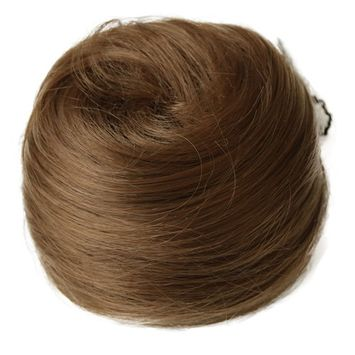 PRETTYSHOP BUN Up Do Hair Piece Ponytail Extensions Draw String Scrunchie Light brown # 27 DC16