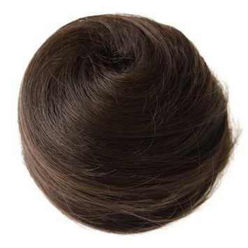 PRETTYSHOP BUN Up Do Hair Piece Ponytail Extensions Draw String Scrunchie chocolate brown # 6 DC12