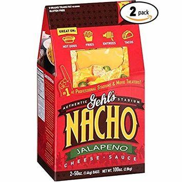 Gehl's Authentic Stadium Nacho Jalapeño Cheese Sauce, 50 oz, 2 count