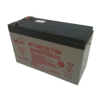 EnerSys Genesis NP7-12FR - 12 Volt/7 Amp Hour Sealed Lead Acid Battery with .187 Fast-on Connector - Flame Retardant Case