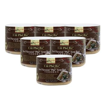 Quoc Viet Foods Soup Base, 10 oz jar (Pho Beef Flavored, 6 Packs)