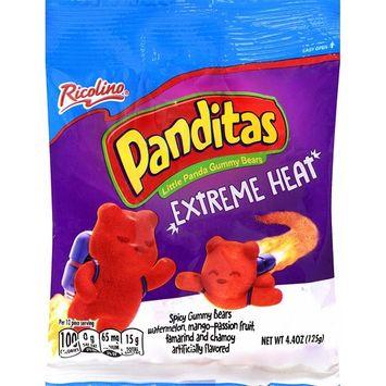 Ricolino Panditas Little Panda Gummy Bears - Watermelon, Mango-Passion Fruit, Tamarind & Chamoy Candy - Extreme Heat Flavor, 4.4oz (6 bags)