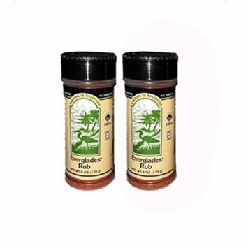 Everglades Seasoning Rub All Purpose 2 Pack (6oz) Barbecue Grilling Spices