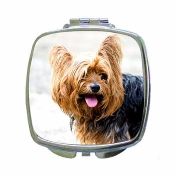 Yorkie Yorksheir Terrier Puppy Dog - Compact Beauty Mirror - Square Shaped