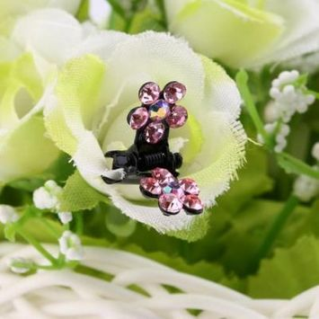 12pcs/set Cute Lovely Baby Girls Flowers Shape Hair Clips Mini Hair Accessory