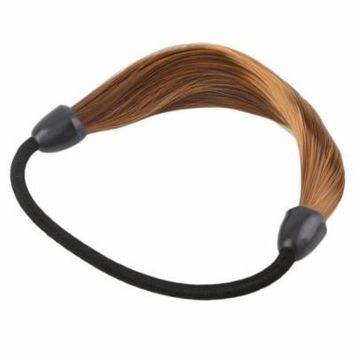 Women Straight Wig Elastic Hair Band Rope Scrunchie Ponytail Holder