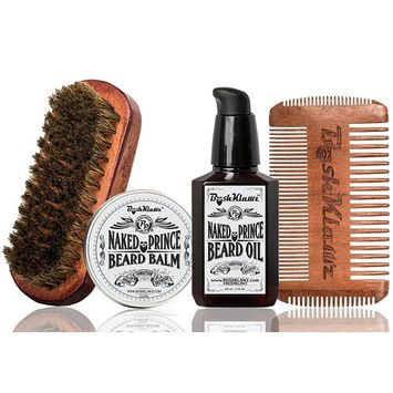 Naked Prince Beard Balm Beard Oil 4Klawz Pocket Beard Comb BoarKlawz Beard Brush Gift Set Complete Beard Care Grooming Kit Great for Hunters Holiday Christmas Bearded Special Deal Sale Gift Kit