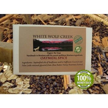 All Natural Organic Soap, Oatmeal Spice Bar Soap for Hands, Face, and Body - White Wolf Creek [Oatmeal Spice]
