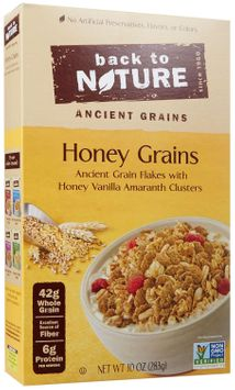 Back To Nature CEREAL, HONEY GRAINS, (Pack of 6)