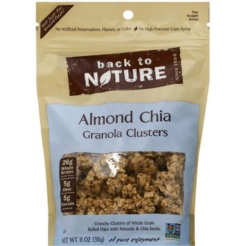Back To Nature Almond Chia Granola Clusters Cereal, 11 oz, (Pack of 6)