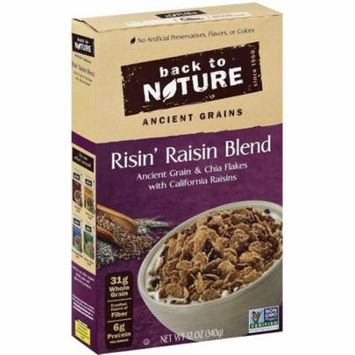 Back To Nature Risin' Raisin Blend Cereal, 12 oz, (Pack of 6)