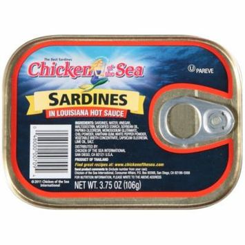 Chicken of the Sea Sardines in Hot Sauce Case 3.75oz (PACK OF 18)