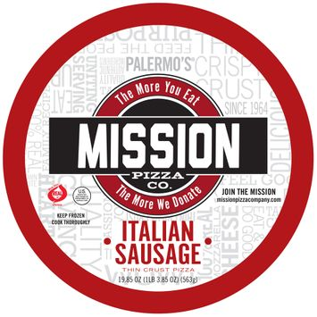 Mission Pizza co Thin Crust Italian Sausage Pizza