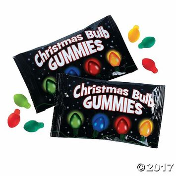 Fun Express - Christmas Bulb Gummies for Christmas - Edibles - Soft & Chewy Candy - Gummy - Christmas - 18 Pieces