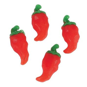 Red Chili Pepper - Shaped Gummy Candies (Approx. 46 Pcs. Per Unit; 1 Lb.) Cherry Flavor.