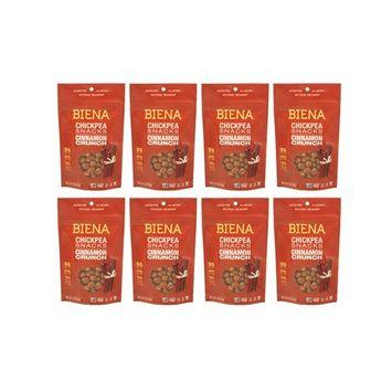 Biena Roasted Chickpea Snacks, Cinnamon Crunch, 5 Ounce, 8 Count [Cinnamon Crunch]
