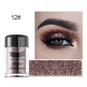 Glitter Eyeshadow,Oshide Glitter Pearlescent Eyeshadow Powder Eye Shadow Makeup Pearl Shimmer Metallic Cosmetic Eyeshadow Palette - 12 Colors for Choose