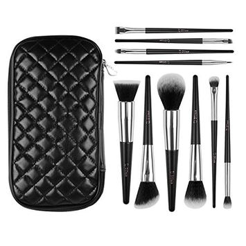 DUcare 10 Pieces Makeup Brushes Essential Kit Travel Collection with Cases