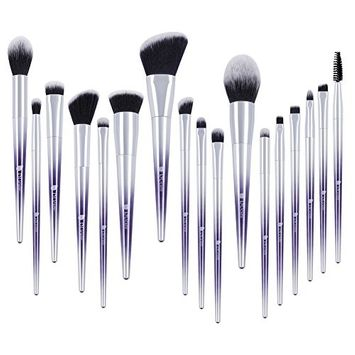 DUcare Makeup Brush Set Professional 17Pcs Fantasy Purple Ombré Make Up Set Foundation Concealer Cosmetic Eyeshadow Brush Kit Cosmetic Eyeshadow Brush Kit