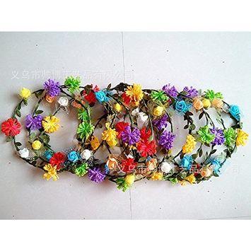 Pretty See Mini Flower Crown Headband /Halo/ /Edc /Hippie Flower Headband /Garden Party / Wedding,Set of 10, Mix Color