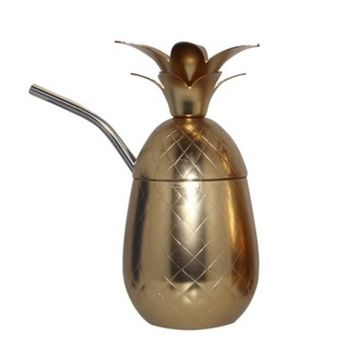 Silver One Pineapple Cocktail Drinkware 17oz - G