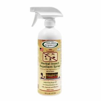 Mad About Organics All Natural Dog & Cat Herbal Insect Repellent Flea & Tick Topical Spray