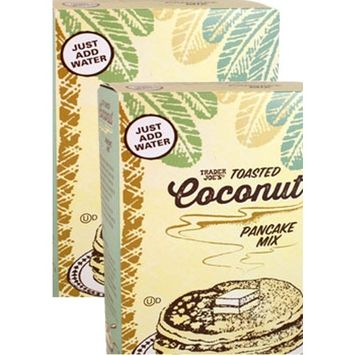 Trader Joe's Toasted Coconut Pancake Mix - Multi-pack (2) 1 LB 3 oz Boxes Total 38 ounces
