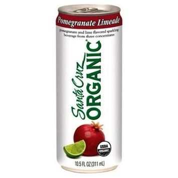 Santa Cruz Organic Sparkling Beverage, Pomegranate Limeade, 10.5-Ounce Cans (Pack of 24)