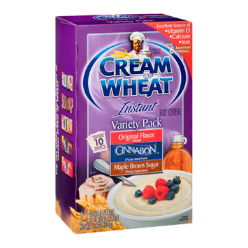 Cream of Wheat Instant Hot Cereal Variety Pack - 10 CT