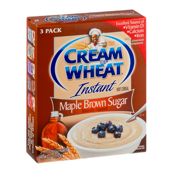 Cream of Wheat Instant Hot Cereal Maple Brown Sugar - 3 PK