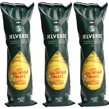 Delverde Artisan Made Tagliatelle Nests with Spring Water Certified Kosher 8.8oz 3 pack