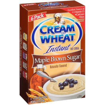 cream of wheat® instant maple brown sugar hot cereal