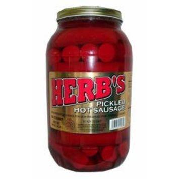 Herb's Pickled Hot Sausage 64 oz (26 count) 4 lb