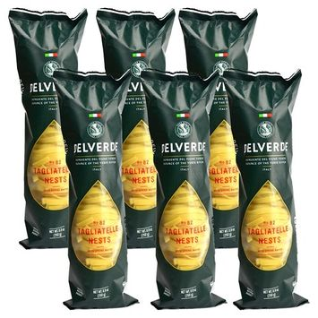 Delverde Artisan Made Tagliatelle Nests with Spring Water Certified Kosher 8.8oz 6 pack
