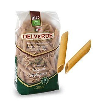 Delverde Organic Whole Grain Pasta - Penne Rigate N.145 - 6 Pack - Kosher