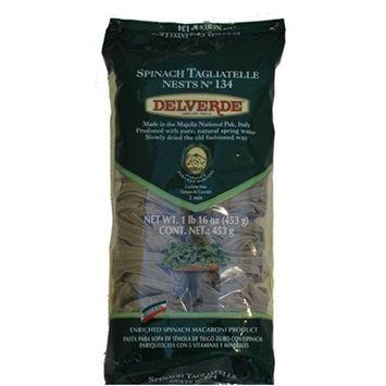 Delverde Tagliatelle Spinach Nest, 1-Pound