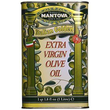 Mantova Italian Golden Extra Virgin Olive Oil - 1 Litre - 1 qt. 1.8 fl oz. - Authentic Italian EVOO Cold-Pressed, 100% Italian Grown Olives