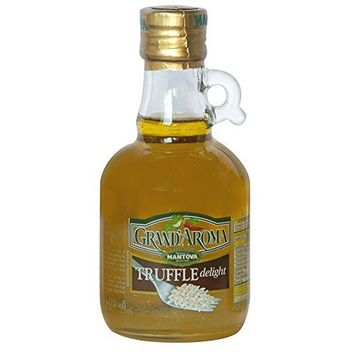 Mantova Grand Aroma Truffle Delight Extra Virgin Olive Oil, 8.5 Ounce (Pack of 6) - This Truffle Oil is a Great Finishing Oil to Impart the Flavor of Truffle into Recipes