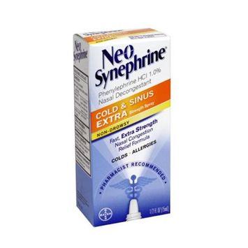 Neo-Synephrine Nasal Spray Extra Strength Formula .5 oz. (Pack of 6)