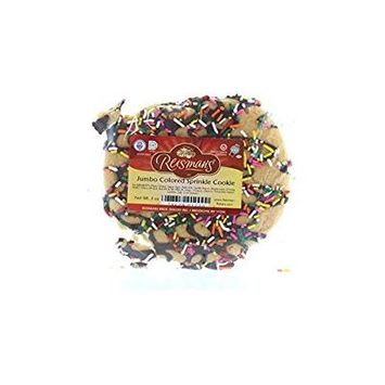 Reisman's Jumbo Colored Sprinkle Cookie 3 Oz. Pack Of 3.